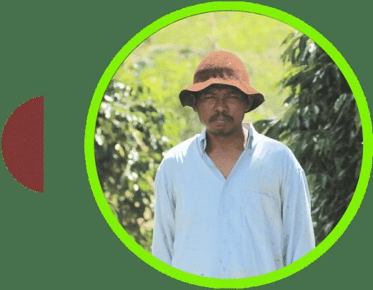 Campesino de café en Sumatra Atu Lintang
