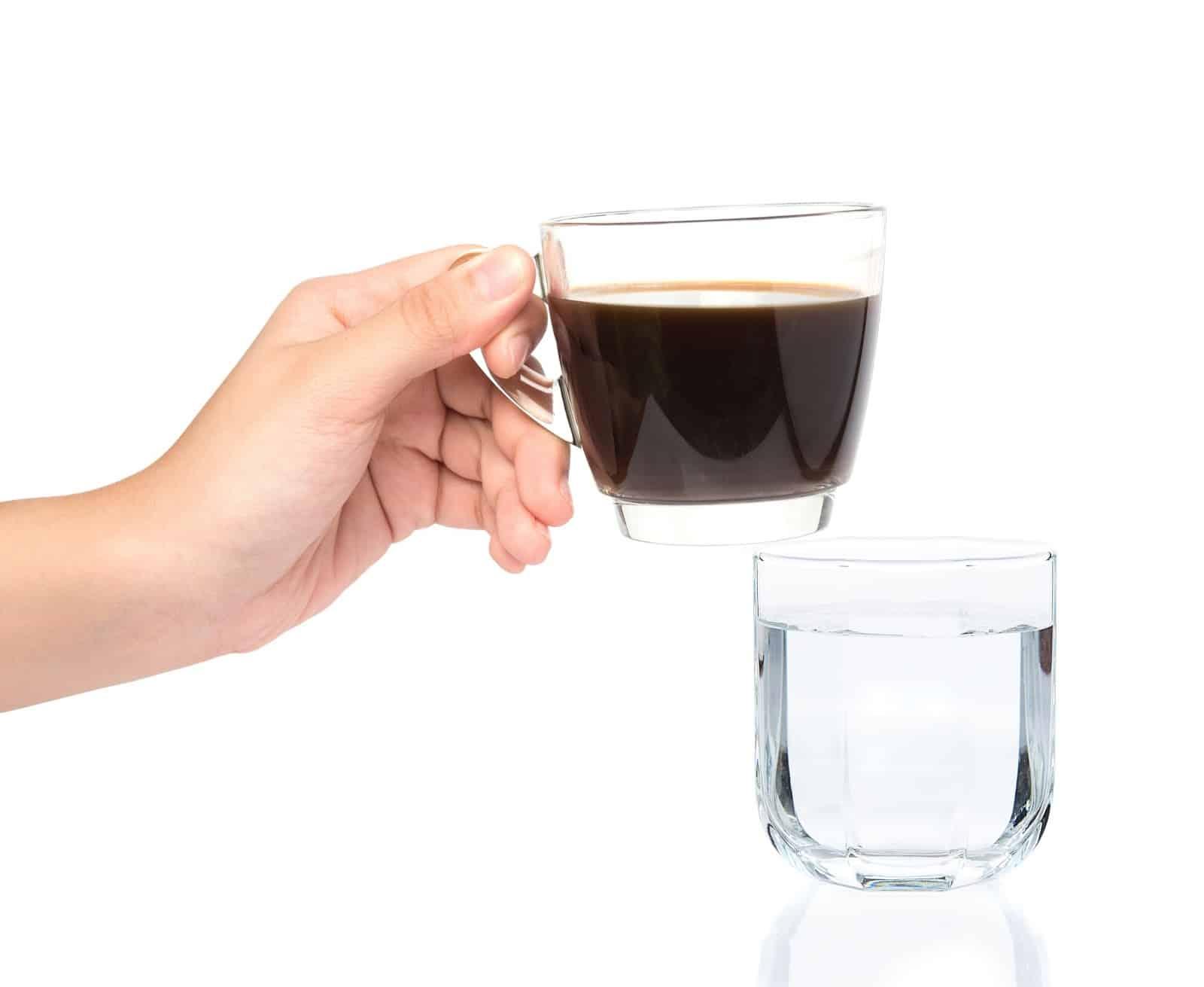 Café y agua