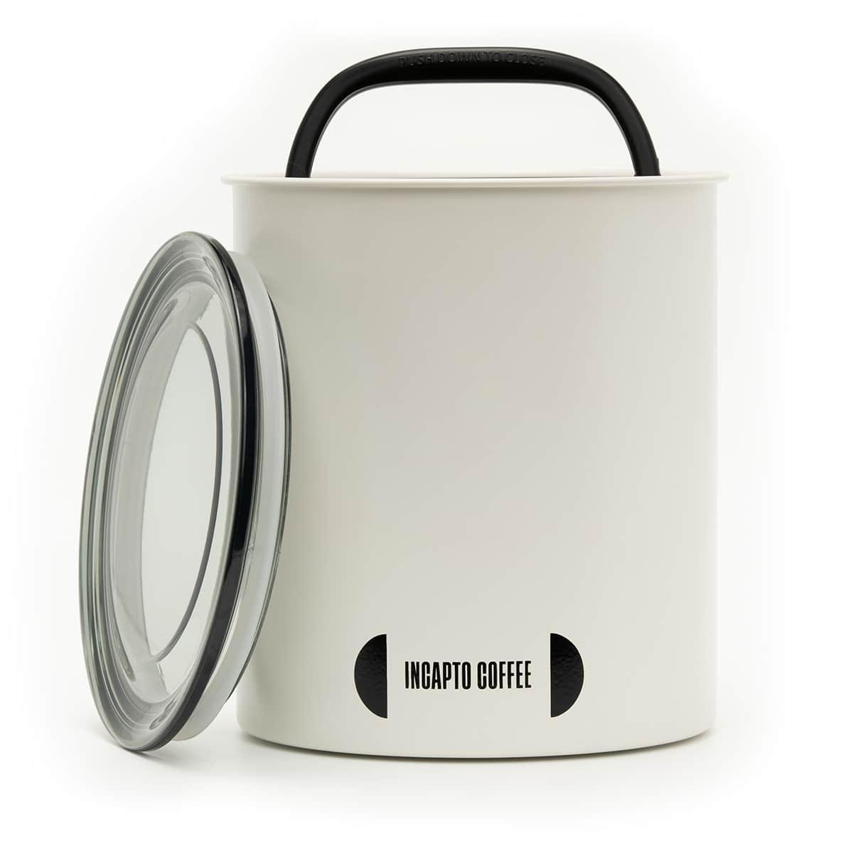 Recipiente de almacenamiento de café en grano color blanco 1 kilogramo