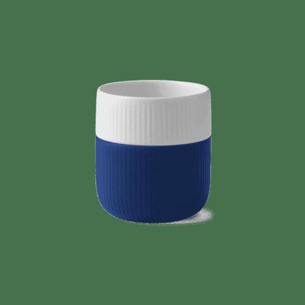 taza azul porcelana