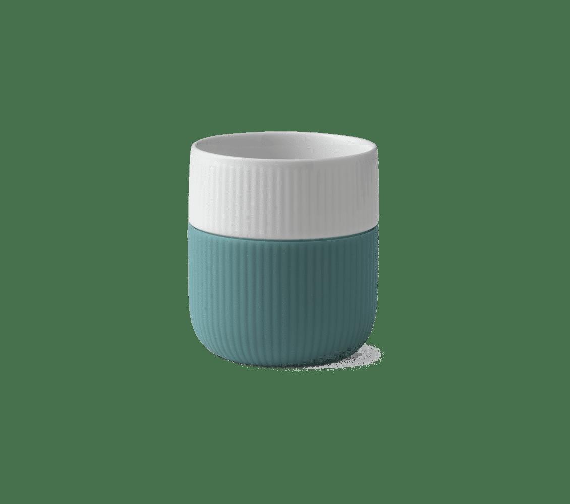 taza verde porcelana