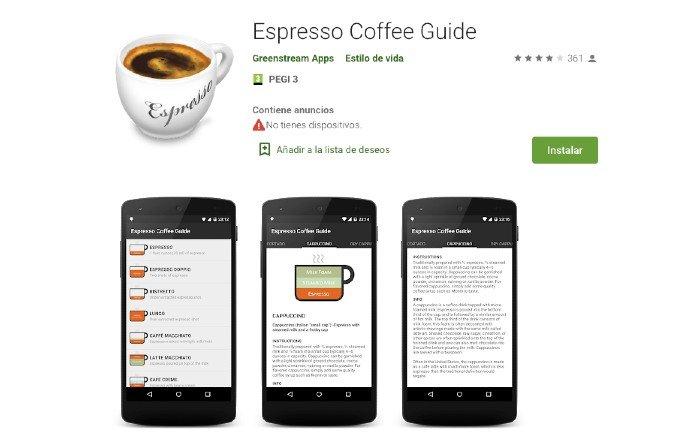 Espresso coffee guide app